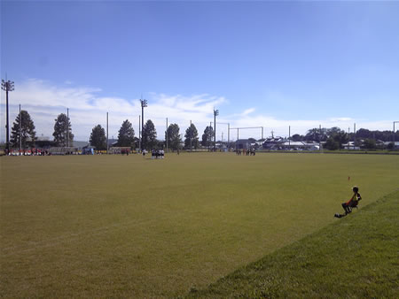 玉村町北部公園サッカー場2010年10月10日