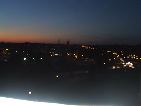 シュクルサラジオウルから見える夜景