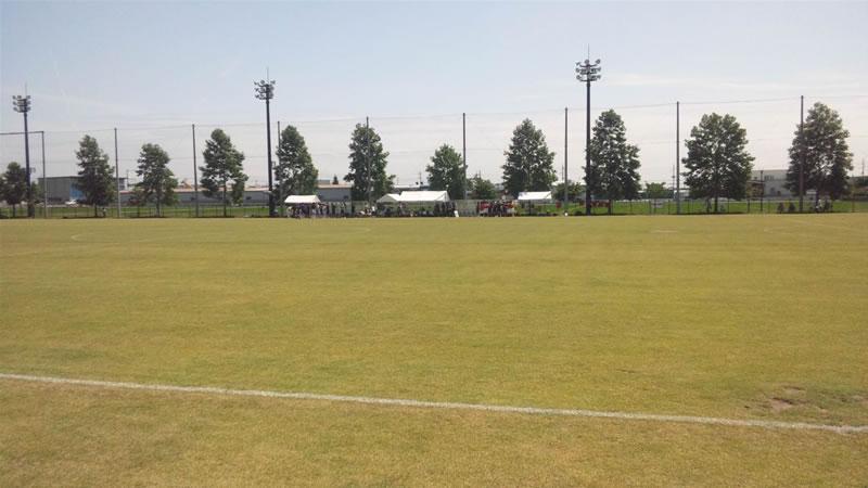 玉村町北部公園サッカー場2011年7月23日
