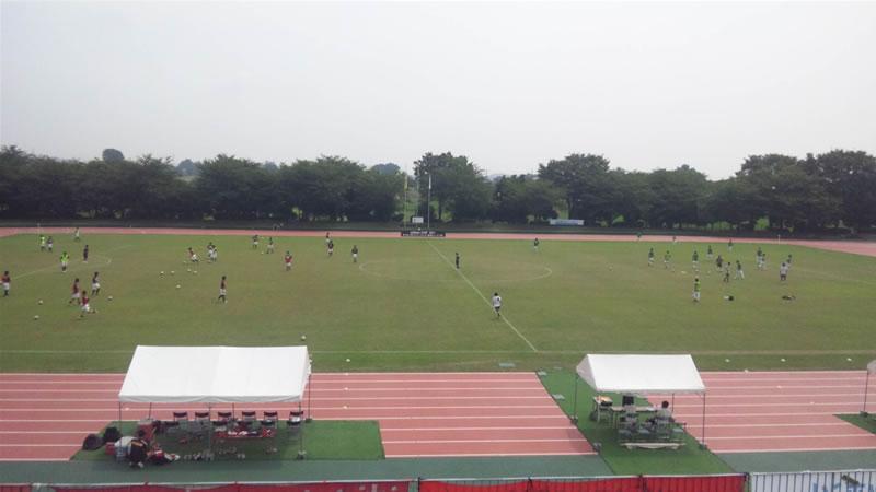 前橋総合運動公園陸上競技・サッカー場2011年7月27日