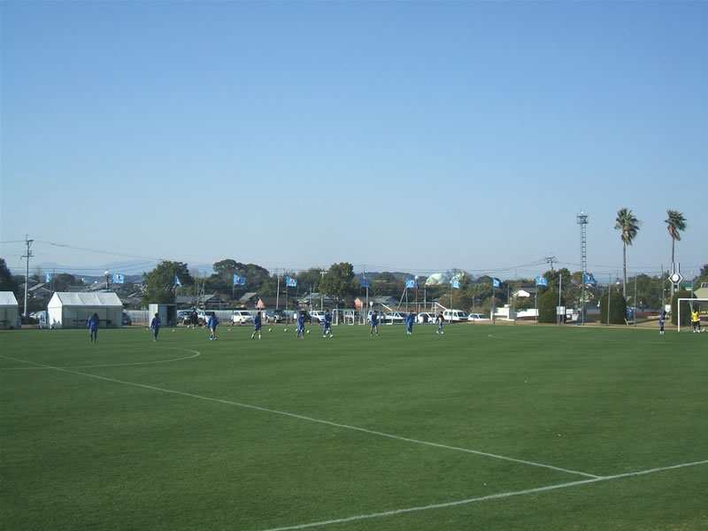 U17日本代表宮崎合宿at国際海浜公園エントランスプラザ多目的グラウンド