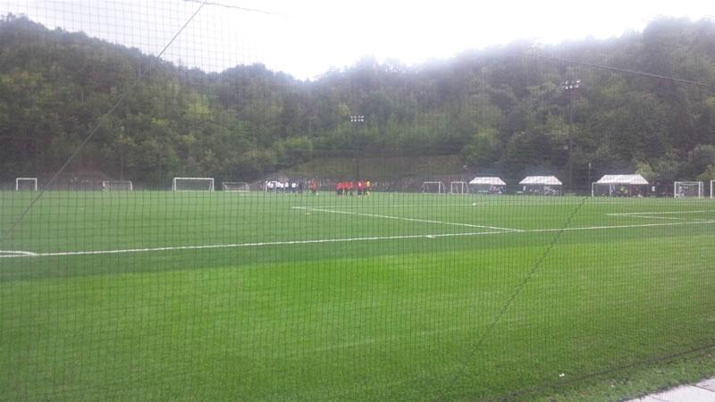 吉田サッカー公園人工芝グラウンド2011年8月22日