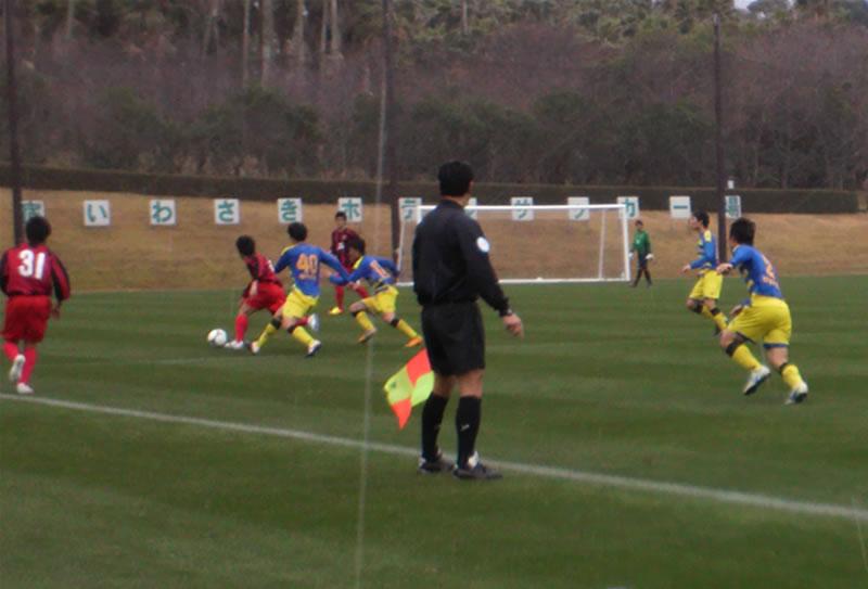 鹿児島・指宿いわさきホテル内サッカー場2012年02月13日