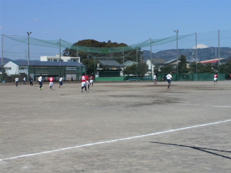 清水東高校サッカーグラウンド2012年3月27日
