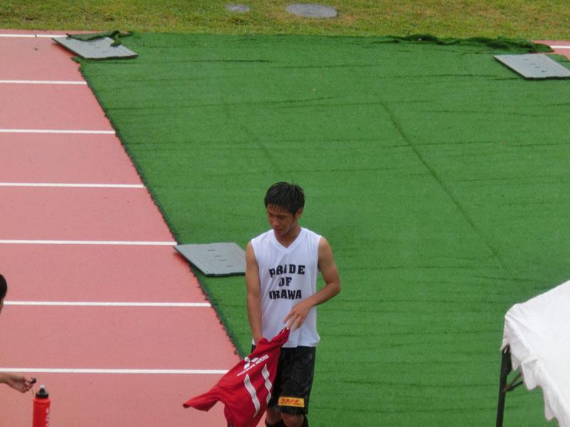 前橋総合運動公園陸上競技・サッカー場2013年7月29日