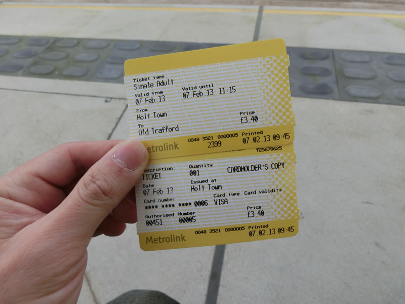 メトロリンクの切符2013年2月7日