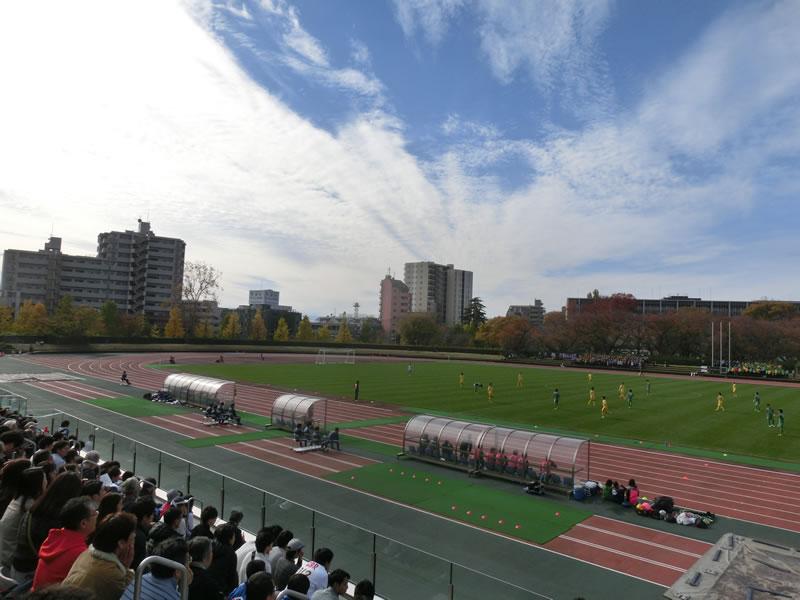 2015/11/21 – 平成27年度 第48回関東大学サッカー大会 昇格決定戦2試合目の東京農業大学vs中央学院大学の試合を観戦。