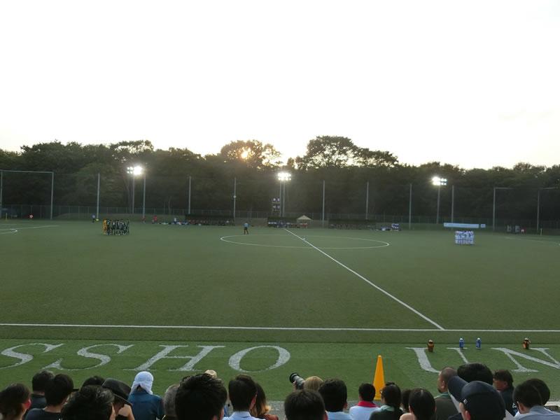 アカデミー卒業生関連 2019/08/04 – 大学サッカー 立正大学vs明治大学を観戦してきました。